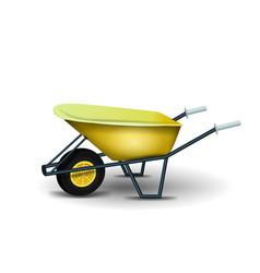Garden wheelbarrow isolated on white background vector