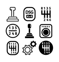 gearbox icon set vector image