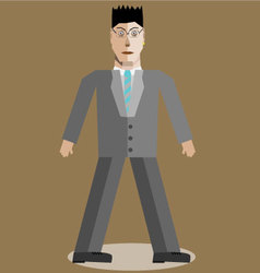 Geometric businessman vector image