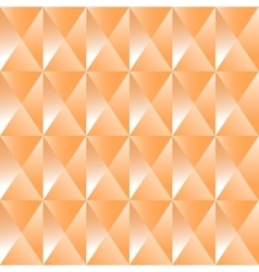 Geometric pattern of orange pyramids vector image