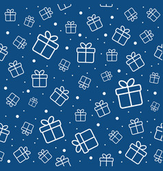 gift boxes and snow seamless pattern vector image