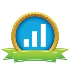 Gold graph logo vector image