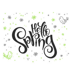 Hand lettering greetings text - hello vector