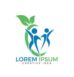 Healthy people logo design vector