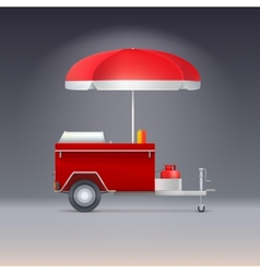 Hot dog store vector image