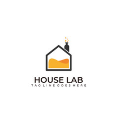 house lab design template vector image
