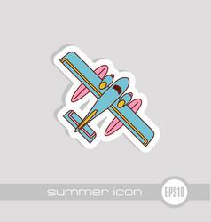 Hydroplane icon summer vacation vector
