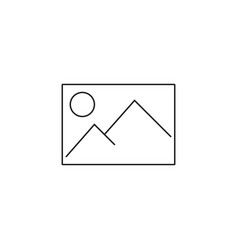 image line icon picture outline logo vector image