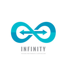 infinity - logo template concept vector image