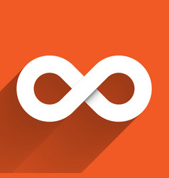 infinity symbol icon concept of infinite vector image