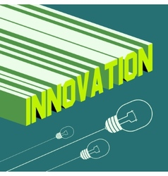 Innovation word Abstract background with 3D vector image