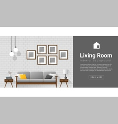 Interior design Modern living room background 1 vector image