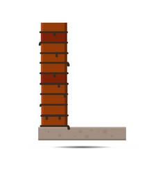 letter brick logo vector image