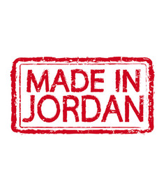 made in jordan stamp text vector image