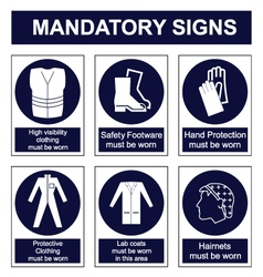 Mandatory Safety signs vector