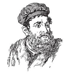 Marco polo vintage vector