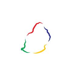 Mauritius map icon logo symbol element vector