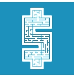 maze dollar labyrinth flat vector image