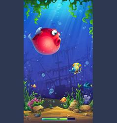 mobile format playing field mahjong fish vector image