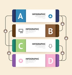 Modern infographic banner with line design vector image