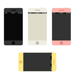 Modern phones collection with beautiful abstract vector