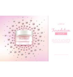 moisturizing cream realistic promo banner vector image