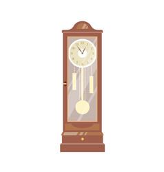 pendulum clock vintage vector image