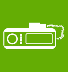 Radio taxi icon green vector