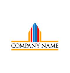 real estate apartment skyscraper logo icon vector image