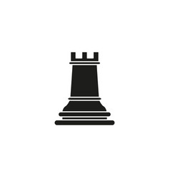 Rook of chess icon black toy success vector