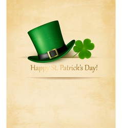 Saint Patricks Day background with clove leaf and vector