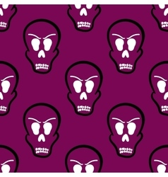 Seamless pattern halloween skulls vector
