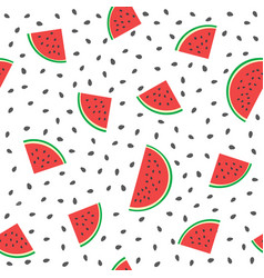 seamless watermelons pattern background vector image