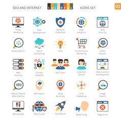 SEO Colorful Icon Set 02 vector