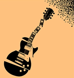 Shredded Guitar Music background vector