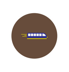 Silhouette high speed train passenger rail road vector