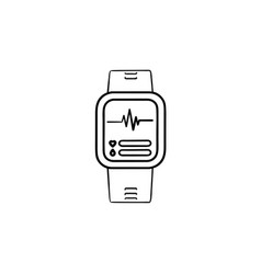 Smartwatch hand drawn outline doodle icon vector