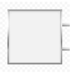 square signage light box signboard square vector image