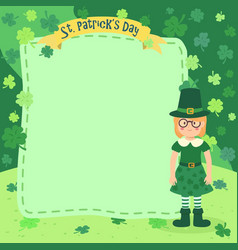 St patrick day girl notes vector