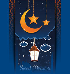 Sweet dreams concept design vector