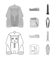 The territory of egypt the sphinx the pharaoh vector