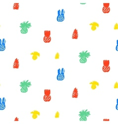Tropical pattern with fruits and leafs vector