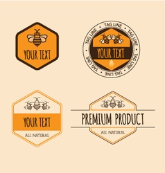 Vintage badges vector image
