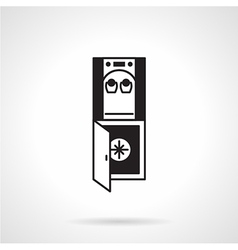 Water dispenser black icon vector
