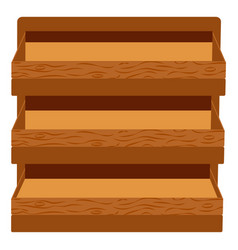 Wooden furniture for home or stores shelf box vector