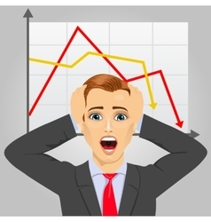 young businessman in economic crisis vector image