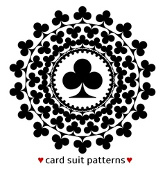 Club card suit pattern vector image vector image