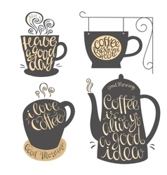 Hand lettering design for coffee shop restaurants vector image