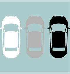 black grey white car icon vector image vector image
