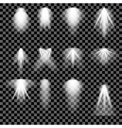 Concert Lighting Stage Spotlights Background vector image vector image
